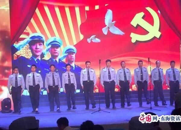 泰兴交警大队文艺汇演庆祝党诞生95周年(图)