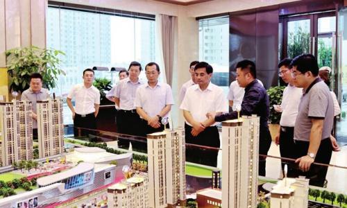 张育林督查城建重点工程