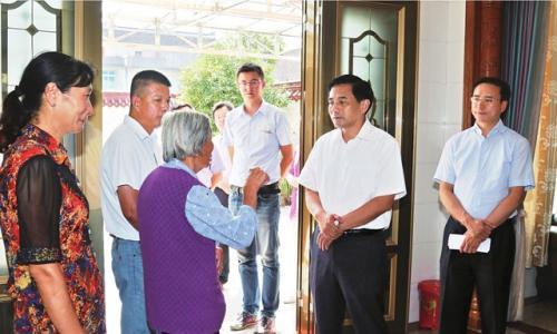 张育林等市领导走访慰问省党内关爱资金关爱对象